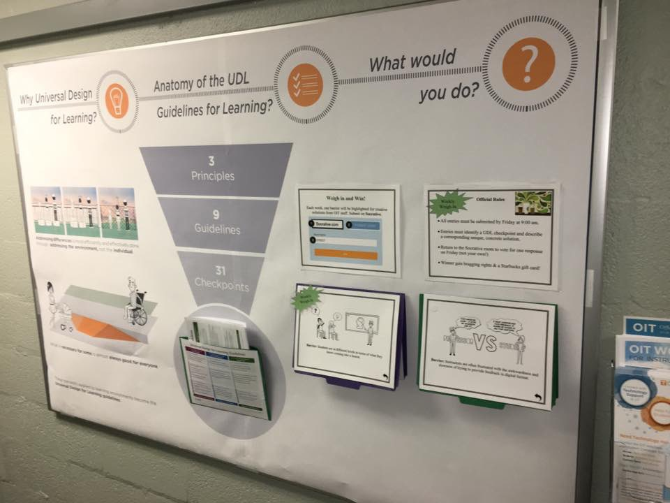 Interactive bulletin board featuring two big ideas, the anatomy of the guidelines, and interactive scenarios to prompt thinking